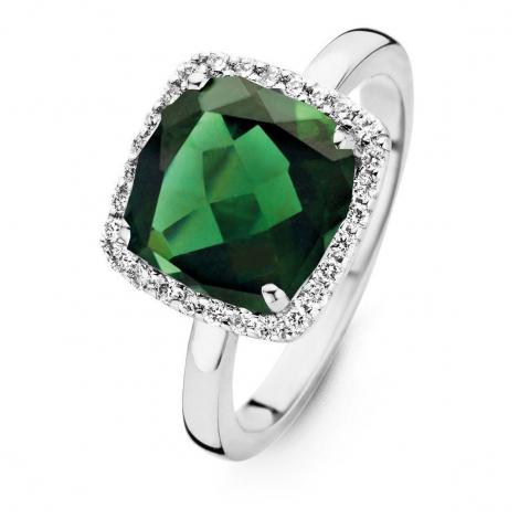Bague Tourmaline Verte et Diamants One More - Etna 0.22 ct  - Etna 053926QA