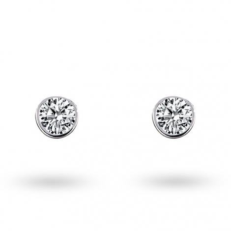 Boucle d oreille diamant 0.1 ct et Or 18 ct - 750/1000 Cassiopée - E2829FMPWAY05
