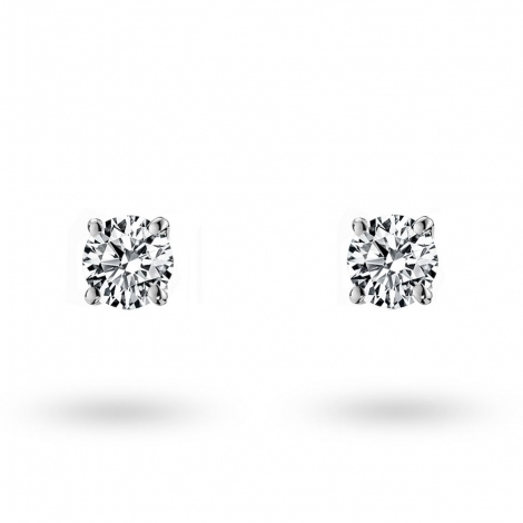 Boucle d oreille diamant 0.1 ct et Or 18 ct - 750/1000 Salome - E1883FMPWAY03