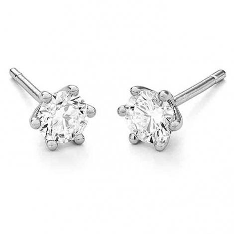 Boucle d oreille diamant 0.1 ct et Or 18 ct - 750/1000 Tara - E7507