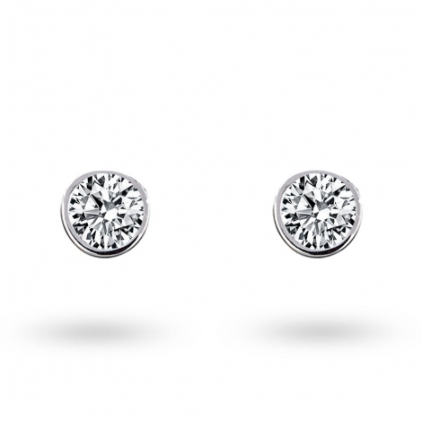 Boucle d oreille diamant 0.15 ct et Or 18 ct - 750/1000 Allissa - E2908FMPWAY02