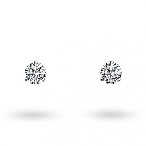 Boucle d oreille diamant 0.15 ct et Or 18 ct - 750/1000 Diana - E3263FMPWAY02