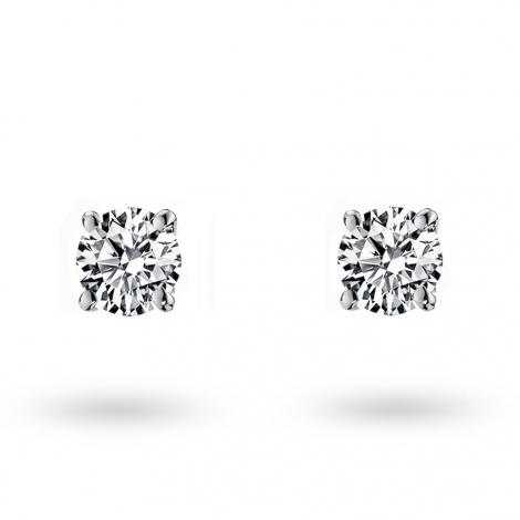 Boucle d oreille diamant 0.15 ct et Or 18 ct - 750/1000 Orianna - E1884FMPWAY02