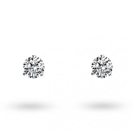 Boucle d oreille diamant 0.2 ct et Or 18 ct - 750/1000 Alanna - E2581FMPWA605