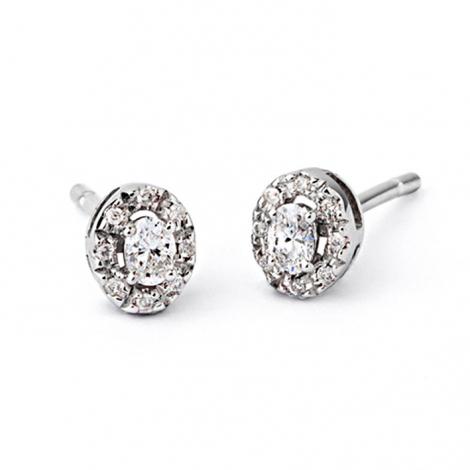Boucle d oreille diamant 0.2 ct et Or 18 ct - 750/1000  - E5185FMPWAK00
