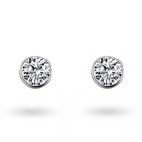 Boucle d oreille diamant 0.2 ct et Or 18 ct - 750/1000 Yelena - E2739FMPWA602