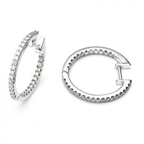 Boucle d oreille diamant 0.20 ct et Or 18 ct - 750/1000 Yuki - E3174FMPWA000
