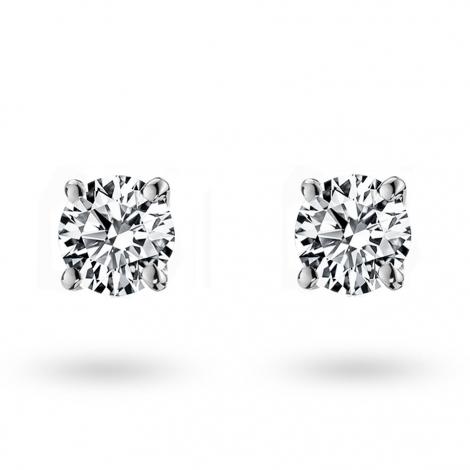 Boucle d oreille diamant 0.25 ct et Or 18 ct - 750/1000 Johanna - E1951FMPWA602