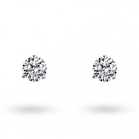 Boucle d oreille diamant 0.25 ct et Or 18 ct - 750/1000 Lana - E3313FMPWAY02