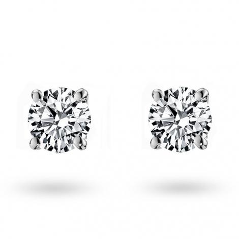 Boucle d oreille diamant 0.3 ct et Or 18 ct - 750/1000 Fanny - E1360FMPWAY02