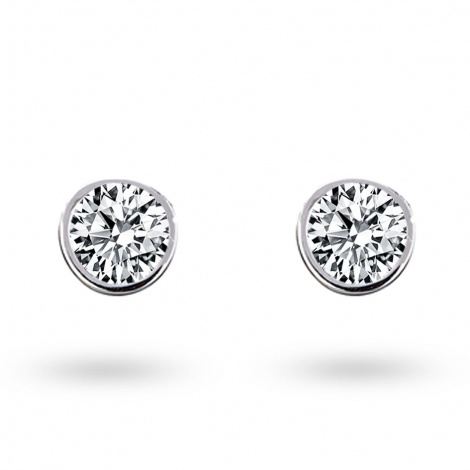 Boucle d oreille diamant 0.3 ct et Or 18 ct - 750/1000 Korail - E2740FMPWA602
