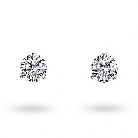 Boucle d oreille diamant 0.3 ct et Or 18 ct - 750/1000 Violaine - E2741FMPWA602