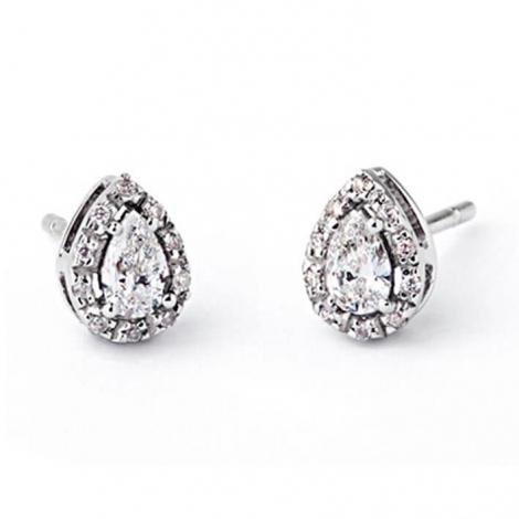 Boucle d oreille diamant 0.35 ct et Or 18 ct - 750/1000  - E5184FMPWAK00