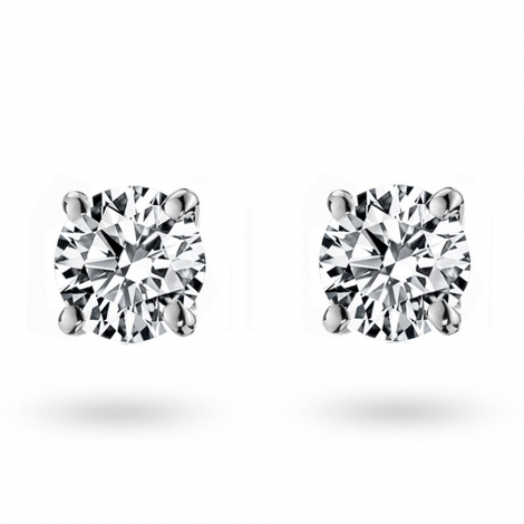 Boucle d oreille diamant 0.4 ct et Or 18 ct - 750/1000 Kimberly - E1398FMPWA602