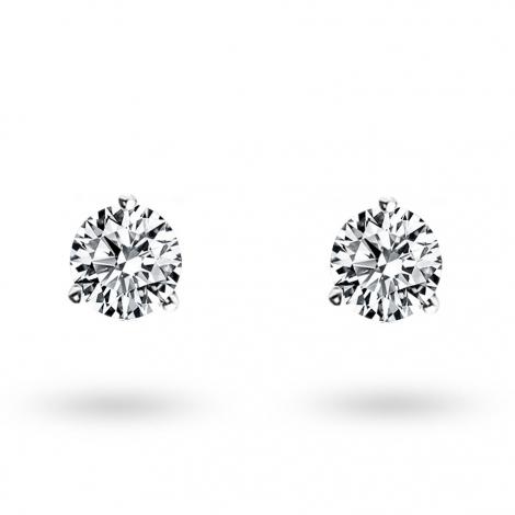 Boucle d oreille diamant 0.4 ct et Or 18 ct - 750/1000 Lucie - E2582FMPWA602