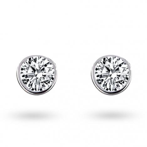 Boucle d oreille diamant 0.4 ct et Or 18 ct - 750/1000 Sofia - E2628FMPWA602