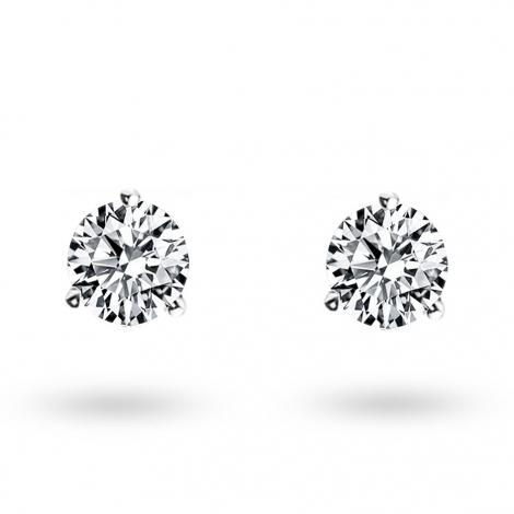 Boucle d oreille diamant 0.5 ct et Or 18 ct - 750/1000 Arianna - E2667FMPWA602