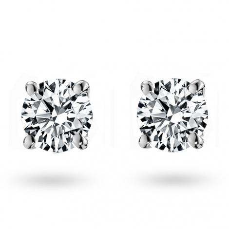 Boucle d oreille diamant 0.5 ct et Or 18 ct - 750/1000 Eshana - E1362FMPWA602