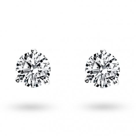 Boucle d oreille diamant 0.6 ct et Or 18 ct - 750/1000 Éléonore - E2583FMPWA602