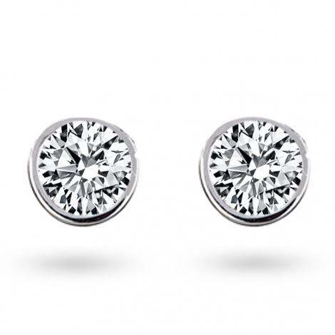 Boucle d oreille diamant 0.66 ct et Or 18 ct - 750/1000 Amanda - E2629FMPWA602