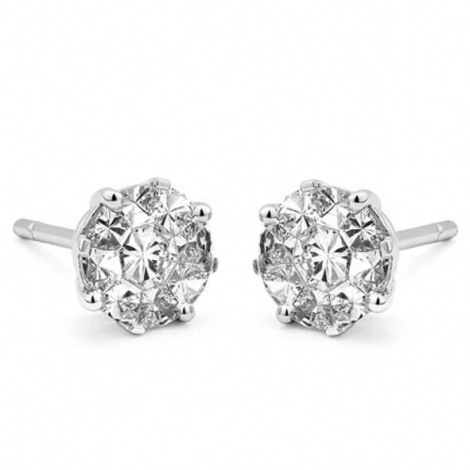Boucle d oreille diamant 0.70 ct et Or 18 ct - 750/1000 Daphnée - E6950