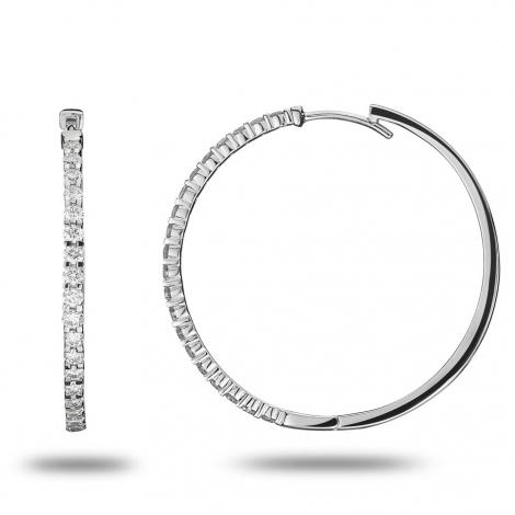 Boucle d oreille diamant 0.8 ct et Or 18 ct - 750/1000 Aurore - 32619