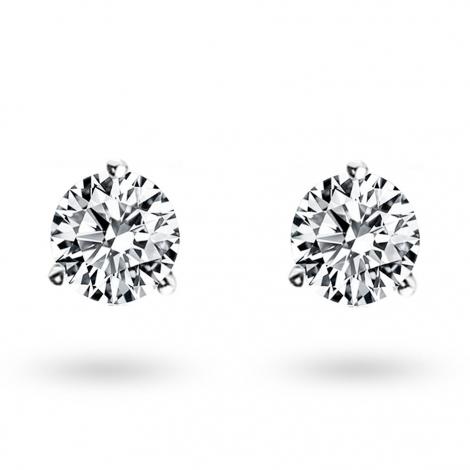 Boucle d oreille diamant 0.86 ct et Or 18 ct - 750/1000 Floralie - E2584FMPWA602