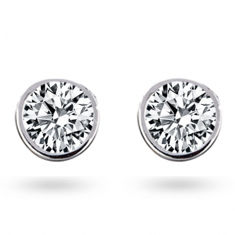Boucle d oreille diamant 0.86 ct et Or 18 ct - 750/1000 Louna - E2630FMPWAY01