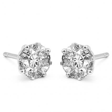 Boucle d oreille diamant 0.9 ct et Or 18 ct - 750/1000 Daphnée - E6951FMPWA002