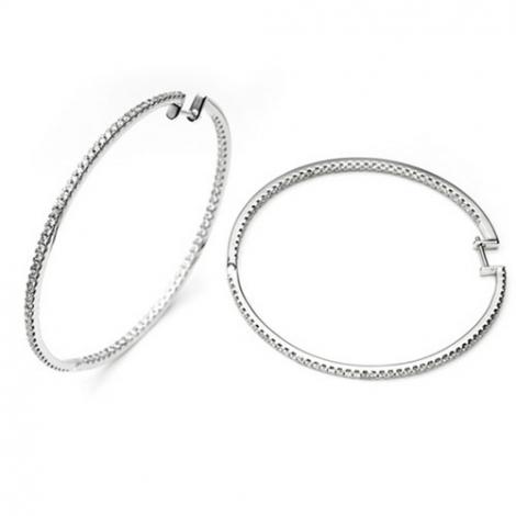 Boucle d oreille diamant 0.95 ct et Or 18 ct - 750/1000 Melissa - E3594FMPWA000
