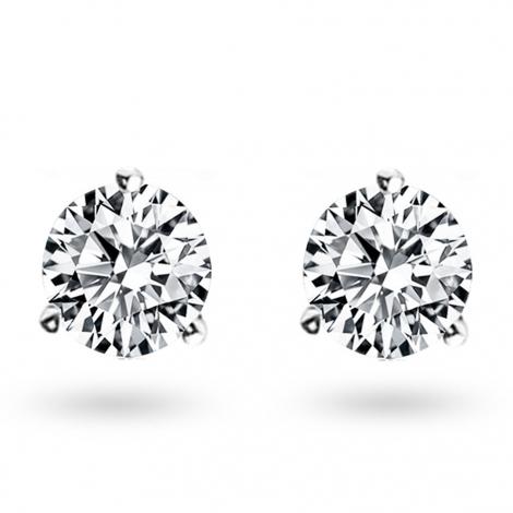 Boucle d oreille diamant 1.26 ct et Or 18 ct - 750/1000 Elora - E4704FMPWA602