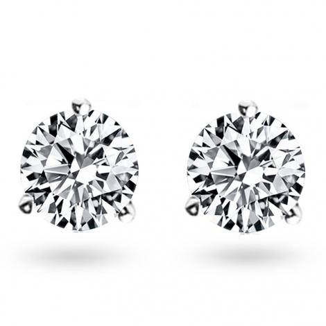 Boucle d oreille diamant 1.46 ct et Or 18 ct - 750/1000 Hélène - E4703FMPWAY04