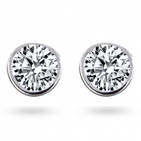 Boucle d oreille diamant 1 ct et Or 18 ct - 750/1000 Coralyne - E2631FMPWAY02