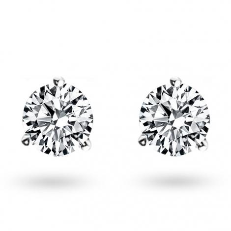 Boucle d oreille diamant 1 ct et Or 18 ct - 750/1000 Mélina - E2585FMPWA602