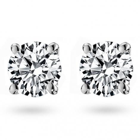 Boucle d oreille diamant 1 ct et Or 18 ct - 750/1000 Violette - E2578FMPWA601
