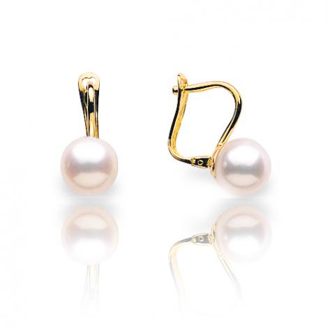 Boucle d'oreille perle de culture - 7 mm-Debora- B18775
