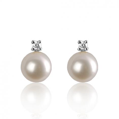 Boucle d'oreille perle de culture - 8.5 mm-Elsa- BO1338PLC
