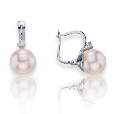 Boucle d'oreille perle de culture - 8 mm-Susanna- B16907