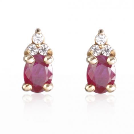 boucles d 39 oreilles rubis diamant or blanc forever bo0687 ru. Black Bedroom Furniture Sets. Home Design Ideas