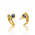 Boucle d'oreille saphir  diamant Or Jaune Cristina - BO853-SA