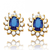 Boucle d'oreille saphir  diamant Or Jaune Gaia - BO 693-S
