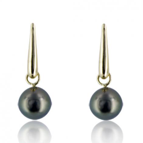 Boucle perle de Tahiti - 10-11 mm-Léana- ref B10033