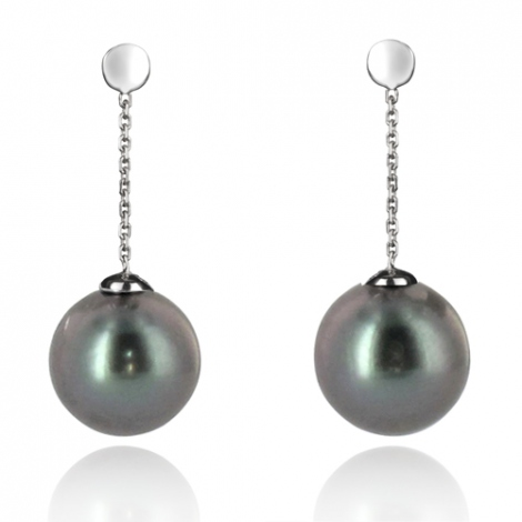 Boucle perle de Tahiti - 7-8 mm-Rosaria- ref B11534