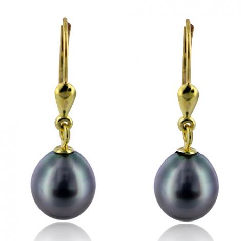 Boucle perle de Tahiti - 8.5-9 mm -Laura- ref B16892