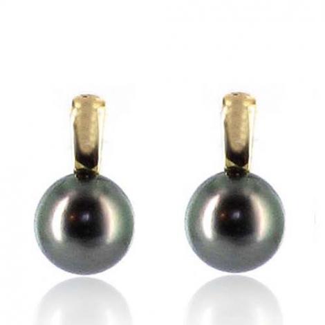 Boucle perle de Tahiti - 8-8.5 mm-Aurora- ref B12750