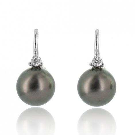 Boucle perle de Tahiti - 8-8.5 mm-Lorena- ref B16908