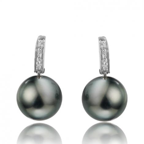Boucle perle de Tahiti - 8-8.5 mm-Maëlle- ref B15982
