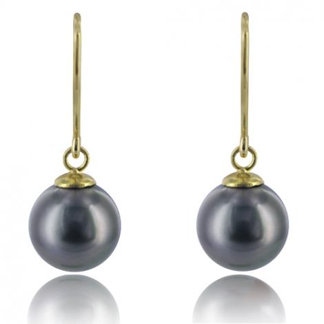 Boucle perle de Tahiti - 8-9 mm-Clémence- ref B19127-1