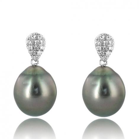 Boucle perle de Tahiti - 8-9 mm-Loana- ref B11106