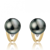 Boucle perle de Tahiti - 8-9 mm-Marguerite- ref B11484